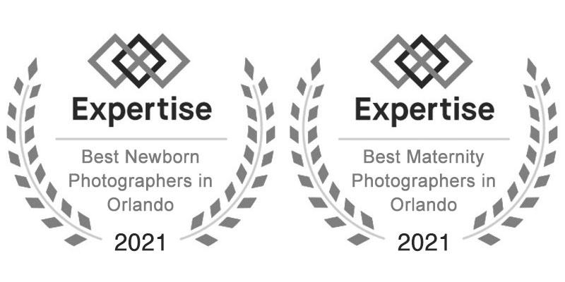 Award badges - 2020. Truly Madly Deeply is recognized by Expertise as the best newborn photographers and best maternity photographers in Orlando and Brevard County in 2020.